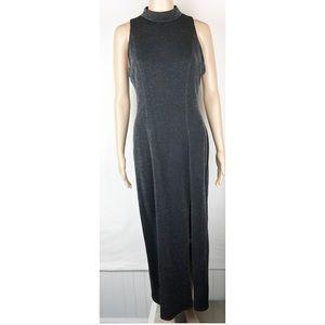VINTAGE REGGIO black mock turtle neck dress